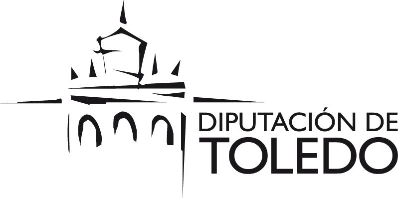 Logotipo de Diputación de Toledo monocromático en negro