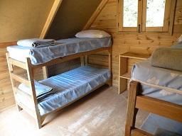 Interior de las cabañas