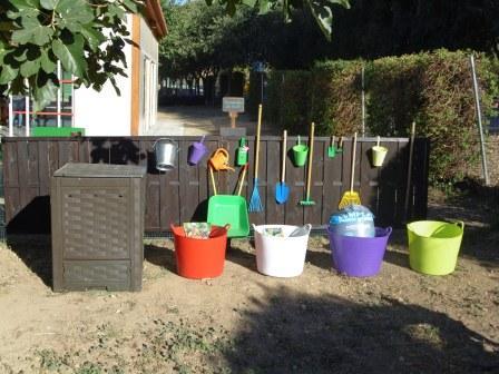 Los materiales del huerto