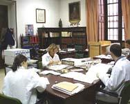 Sala de trabajo del Archivo