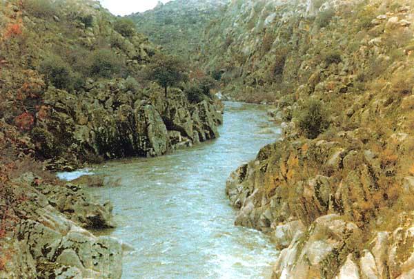 Río Uso, pasando el molino de Paco