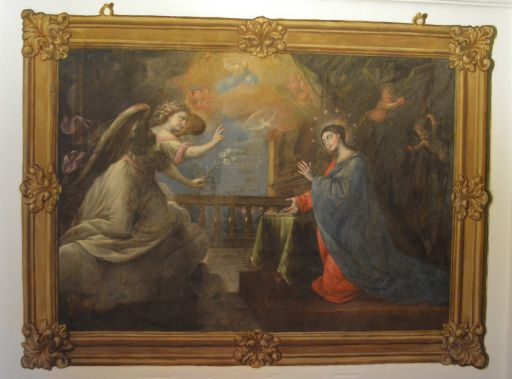 Ermita de la Virgen de la Oliva, detalle de los frescos