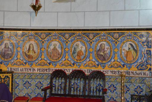 Iglesia parroquial de San Andrés, detalle ceramica Ruiz de Luna