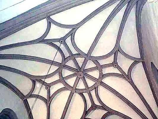 Iglesia parroquial de San Juan Bautista, detalle del techo