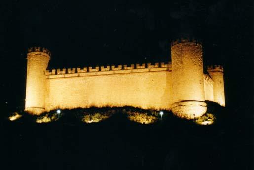 Castillo de Maqueda, vista nocturna