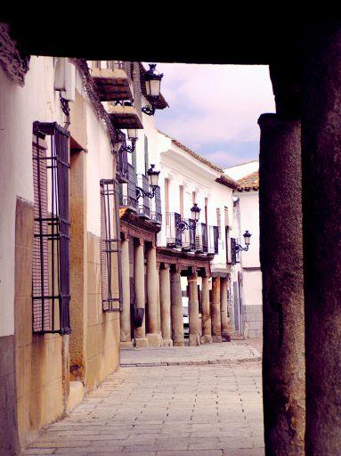 Plaza, soportales