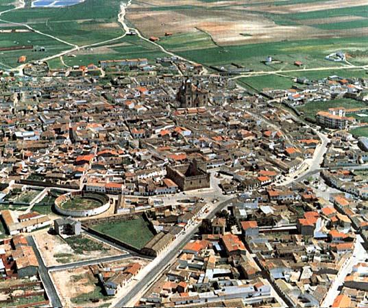 Vista aérea del núcleo urbano