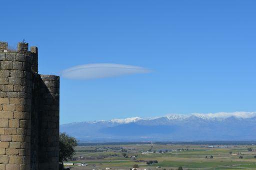 Vista panorámica de Gredos y el Castillo