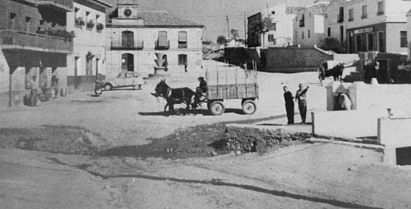 Obras en la Plaza Mayor, del libro Un Siglo de Recas