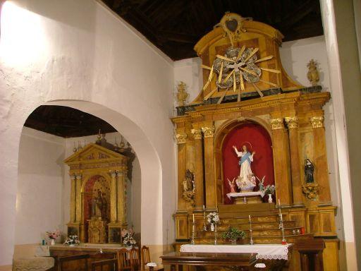 Casalgordo (anejo), Iglesia de San Ildefonso, interior