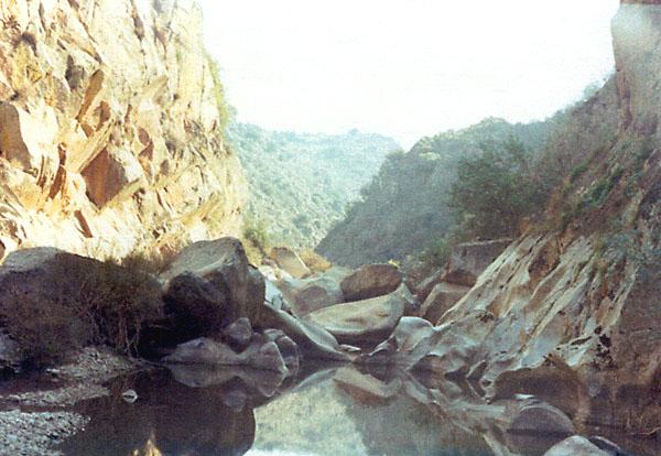 Río Uso, pasado el molino de Paco, en verano