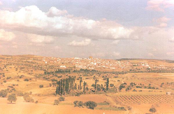 Vista del pueblo desde el Alto Lomo