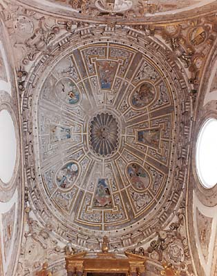 Iglesia parroquial de Nuestra Señora de la Asunción, frescos del techo