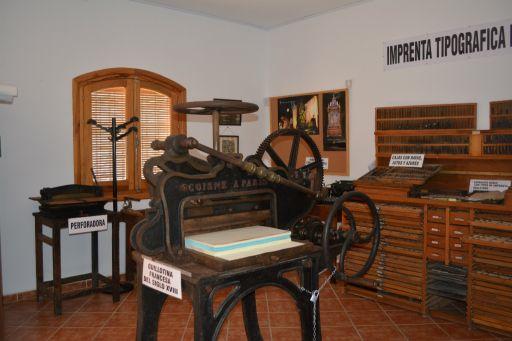 Museo etnológico, Sala imprenta