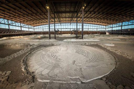 Parque Arqueológico, mosaicos de la Casa de Materno
