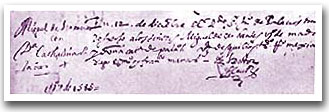 Partida de Casamiento de Cervantes