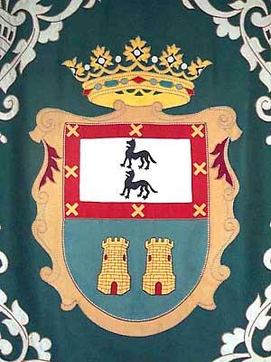 Tapiz con escudo del municipio
