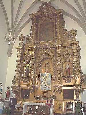 Iglesia parroquial de San Juan Bautista, retablo