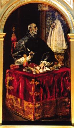 SAN ILDEFONSO, Cuadro de El Greco (Santuario de Ntra Sra de la Caridad)