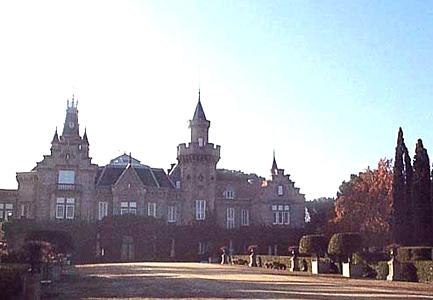 Entorno paisajístico, finca de El Castañar, delantera del palacio