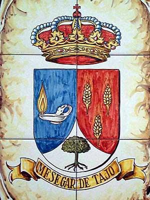 Escudo en azulejos