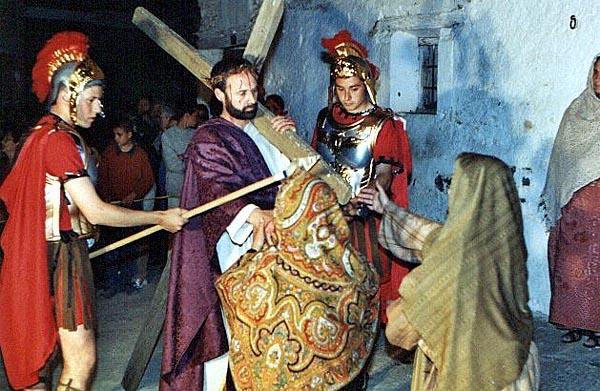 Semana Santa, estación VIII del Vía Crucis