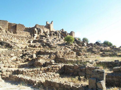Ciudad de Vascos, vista de la Alcazaba desde la Medina