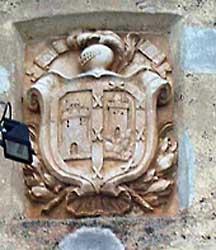 Casino, escudo de la fachada