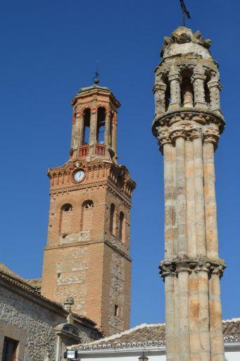 Vista del rollo y de la torre del teatro