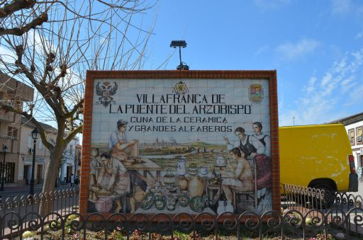 Cerámica, mural de bienvenida al municipio