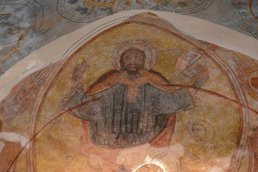 Piedraescrita, Iglesia parroquial de Sta. María de Piedraescrita, pantócrator