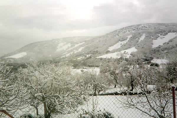 Robledillo, paisaje nevado