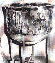 Pila bautismal del S XV, mudejar
