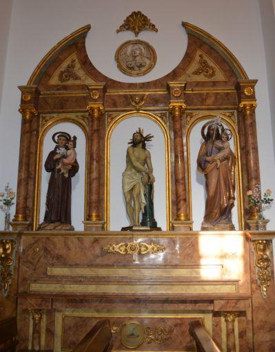 Iglesia parroquial de San Juan Bautista, retablo (a)