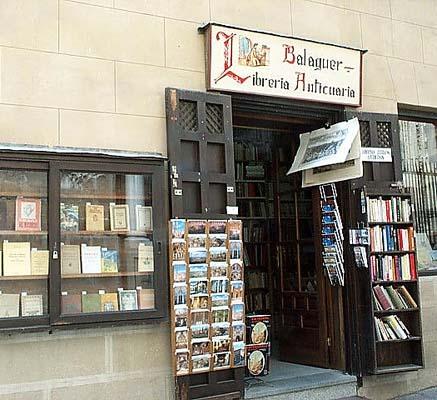 Librería de libros viejos, calle Cisneros