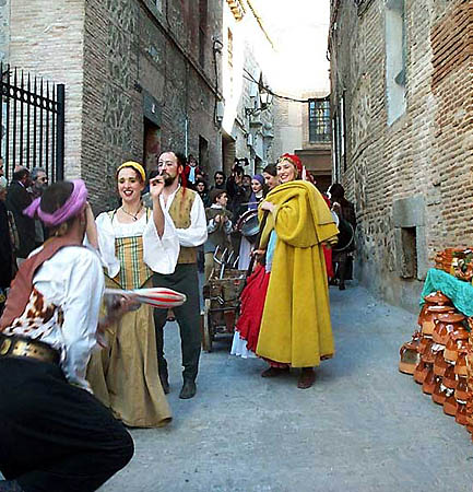 Recreación de un mercado medieval (f)
