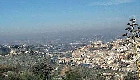 Vista de Toledo, con el puente de San Martín