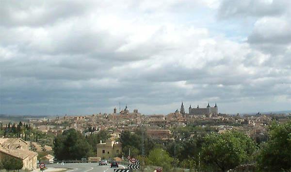 Vista de Toledo, desde la carretera de Argés