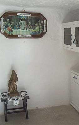 Silo, su habitación