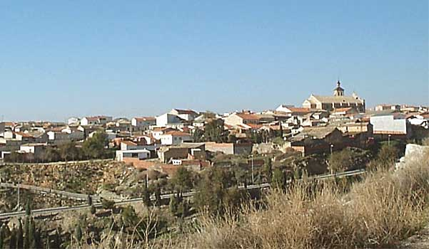 Vista general del casco urbano de Añover