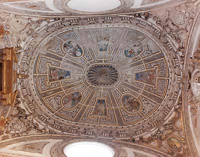 Frescos del techo de la Iglesia de Nuestra Señora de la Asunción