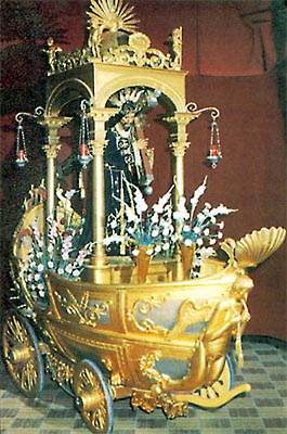 Santísimo Cristo de Urda en su carroza