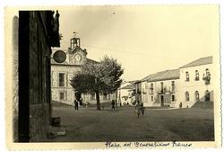 Cervera de los Montes. Plaza Generalísimo Franco.1958 (P-131