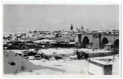 El Puente del Arzobispo. Panorámica con nieve.1965 (P-233)