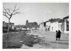 Novés. Iglesia desde la calle Cristo. 1959 (P-602)