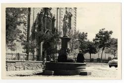 Orgaz. Fuente en la plaza del Generalísimo. 1960 (P-680)