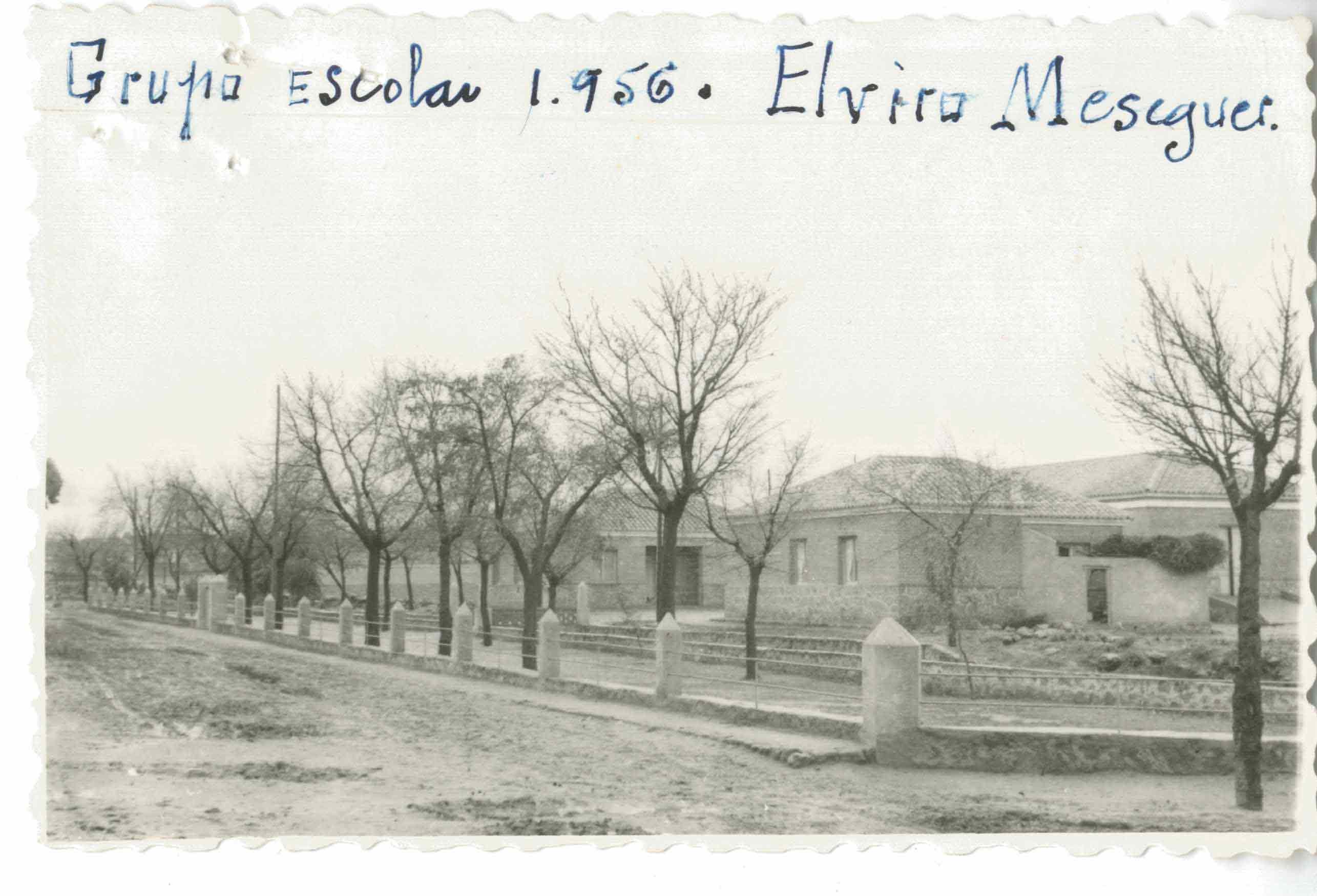 Santa Ana de Pusa. Escuelas Elviro Meseguer. 1956 (P-800)
