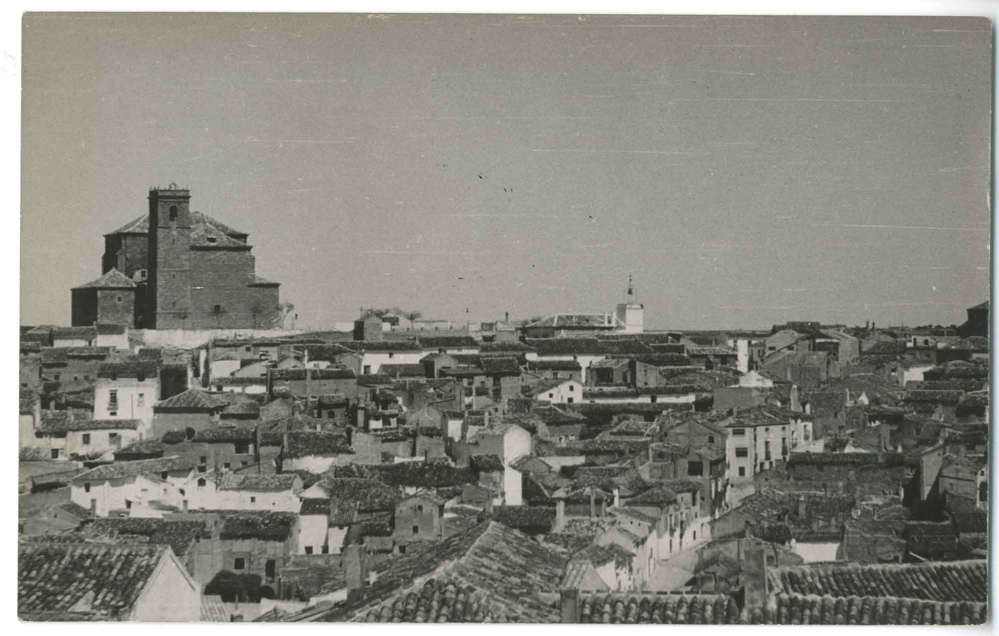 Santa Cruz de la Zarza. Vista parcial. 1960 (P-815)