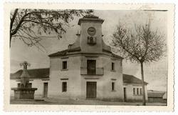 Torrecilla de la Jara. Ayuntamiento y escuelas.1960 (P-1401)