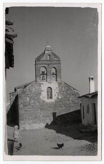 Las Ventas de San Julián.Campanario de iglesia.1960 (P-1514)